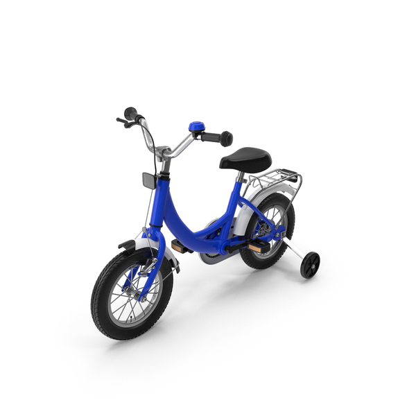 Child: Small Kids Bike with Training Wheels PNG & PSD Images