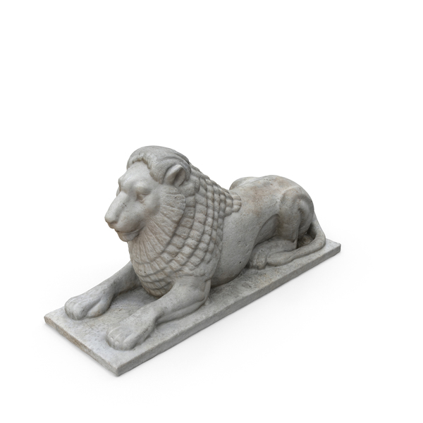 Small Limestone Lion PNG & PSD Images