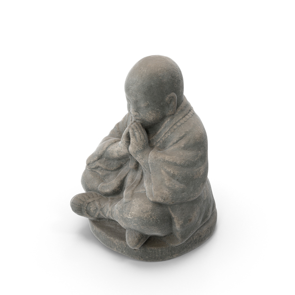 Statue: Small Monk Sculpture PNG & PSD Images