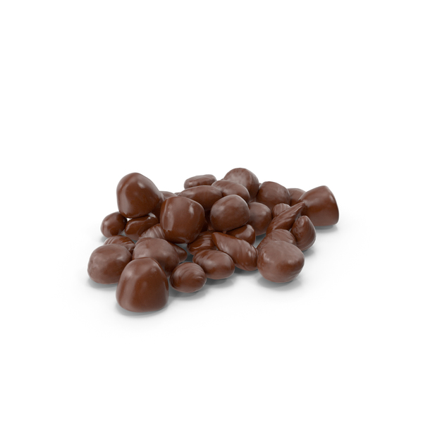 Small Pile of Almond Chocolate Candy PNG & PSD Images