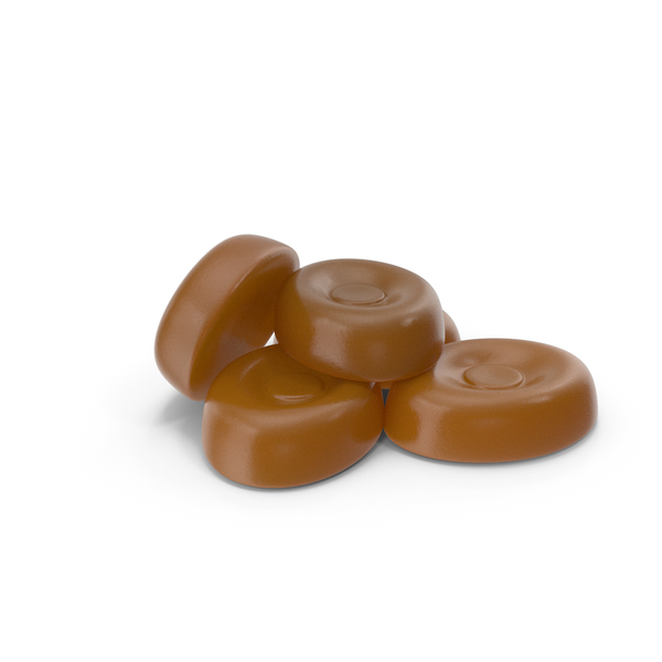 Small Pile of Caramel Oval Hard candy PNG & PSD Images