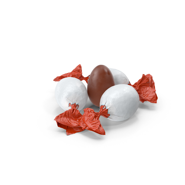 Small Pile of Small Chocolate Eggs PNG & PSD Images