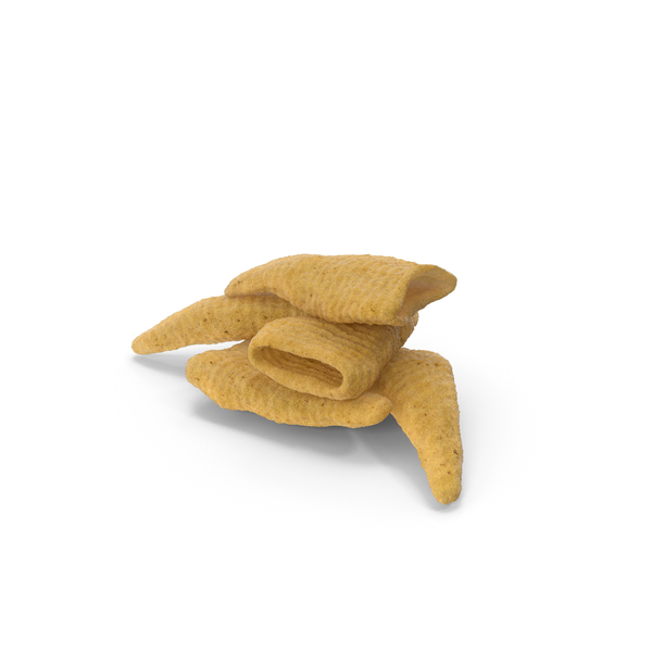 Potato: Small Pile of Cone Shaped Corn Snacks PNG & PSD Images