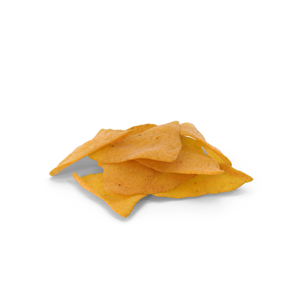 Small Pile Of Corn Tortilla Nacho Chips PNG & PSD Images
