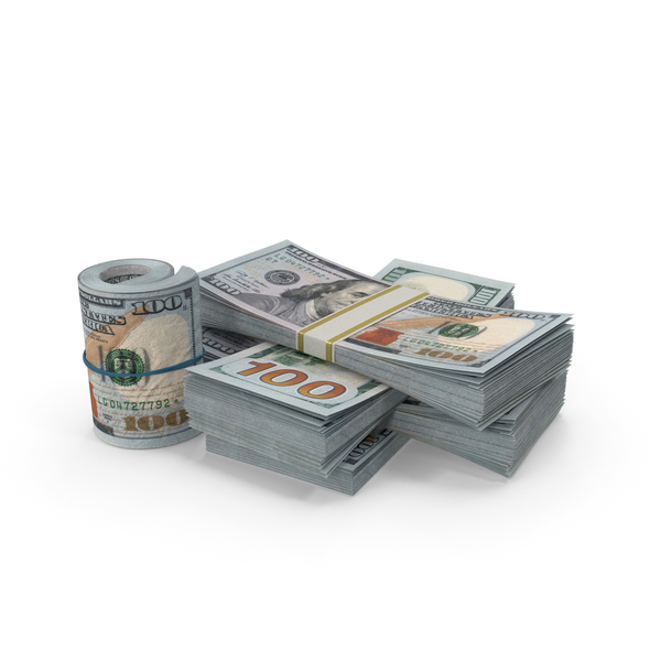 Banknote: Small Pile of Dollars PNG & PSD Images