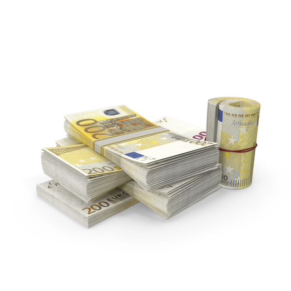 Banknote: Small Pile of Euro Stacks PNG & PSD Images