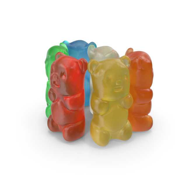 Small Pile Of Gummy Bears PNG & PSD Images
