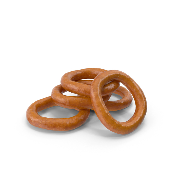 Small Pile of Mini Pretzel Rings PNG & PSD Images