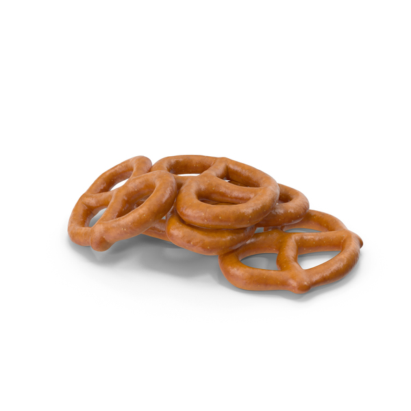 Small Pile Of Mini Pretzels PNG & PSD Images