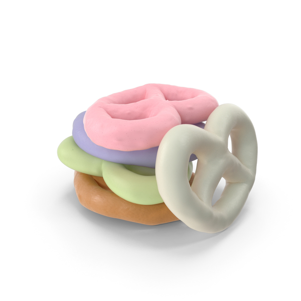 Small Pile of Mixed Yogurt Covered Mini Pretzels PNG & PSD Images