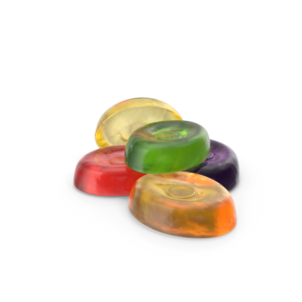 Small Pile of Oval Hard Candy PNG & PSD Images