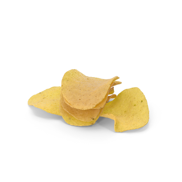 Small Pile of Potato Chips PNG & PSD Images