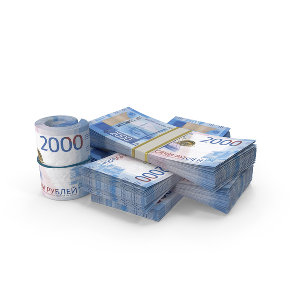 Banknote: Small Pile of Russian Ruble Stacks PNG & PSD Images