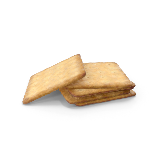 Small Pile of Square Crackers PNG & PSD Images