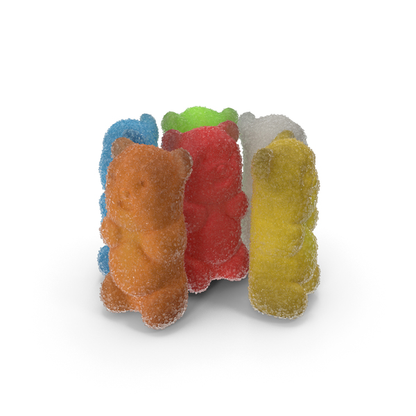 Bear: Small Pile Of sugar Coated Gummy Bears PNG & PSD Images