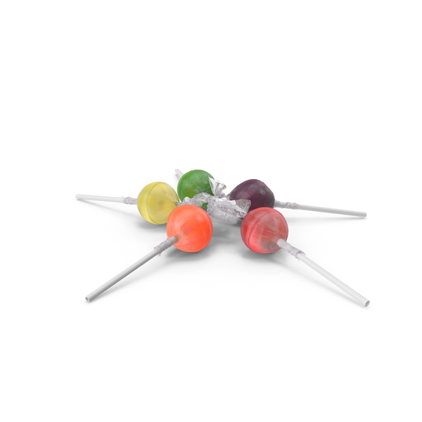 Small Pile of Wrapped Lollipops PNG & PSD Images