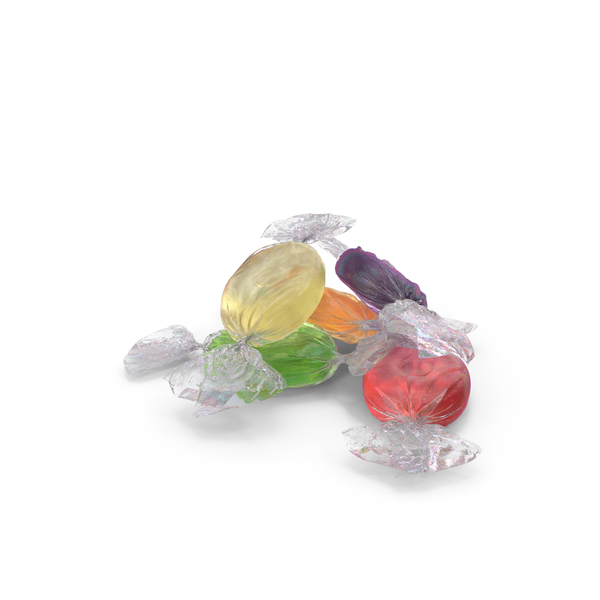 Small Pile of Wrapped Oval Candy PNG & PSD Images