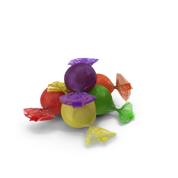 Small Pile of Wrapped Spherical Candy PNG & PSD Images