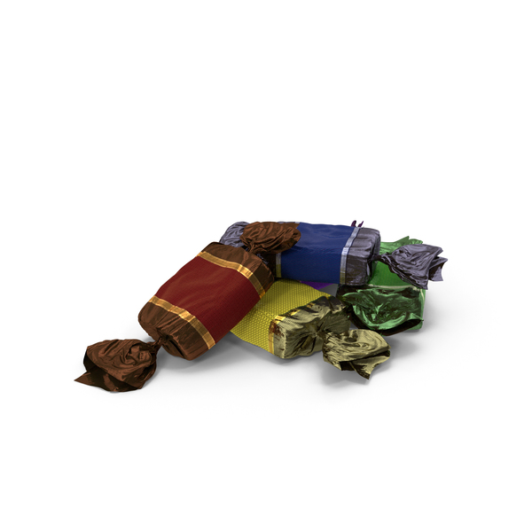 Small Pile of Wrapped Toffee candy PNG & PSD Images