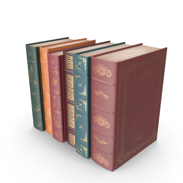 Small Row of Classic Books PNG & PSD Images