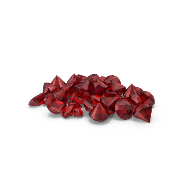 Small Ruby Diamonds pile PNG & PSD Images