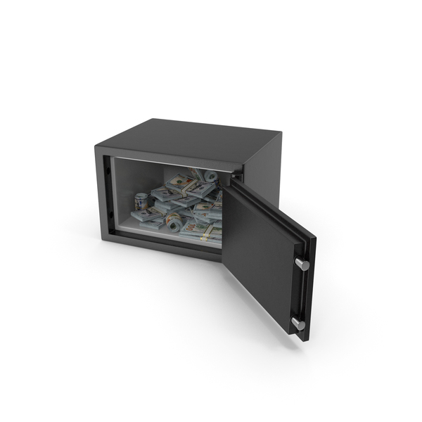 Small safe with New Dollar Stacks PNG & PSD Images