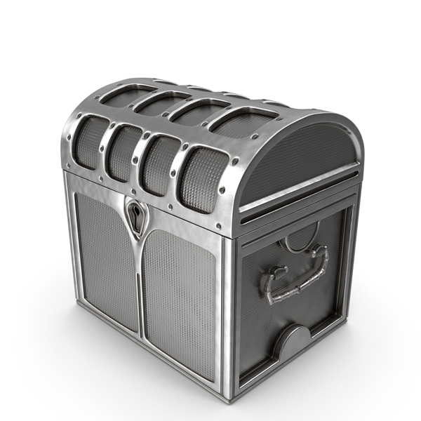 Small Silver Chest Locked PNG & PSD Images