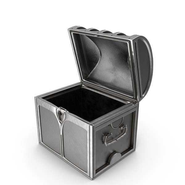 Small Silver Chest Open PNG & PSD Images