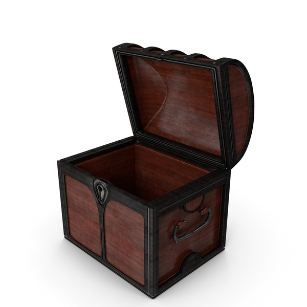 Treasure: Small Wooden Chest Open PNG & PSD Images