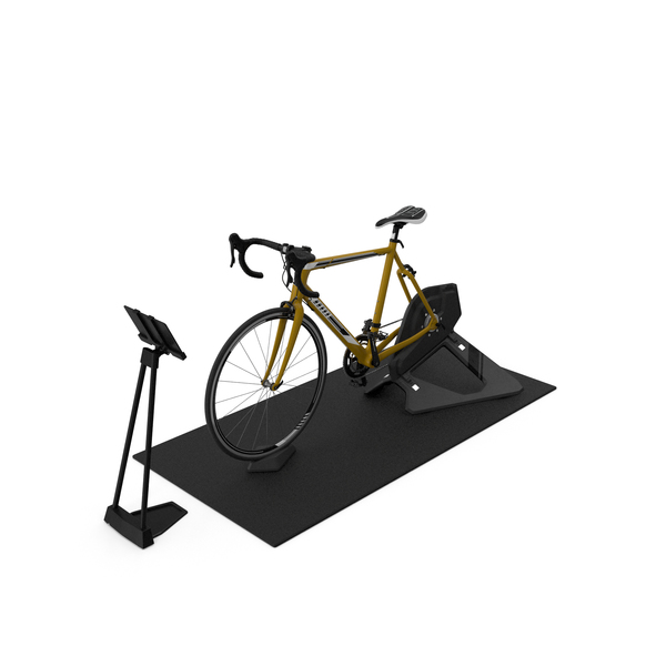 Smart Cycle Trainer And Bronze Bike PNG & PSD Images