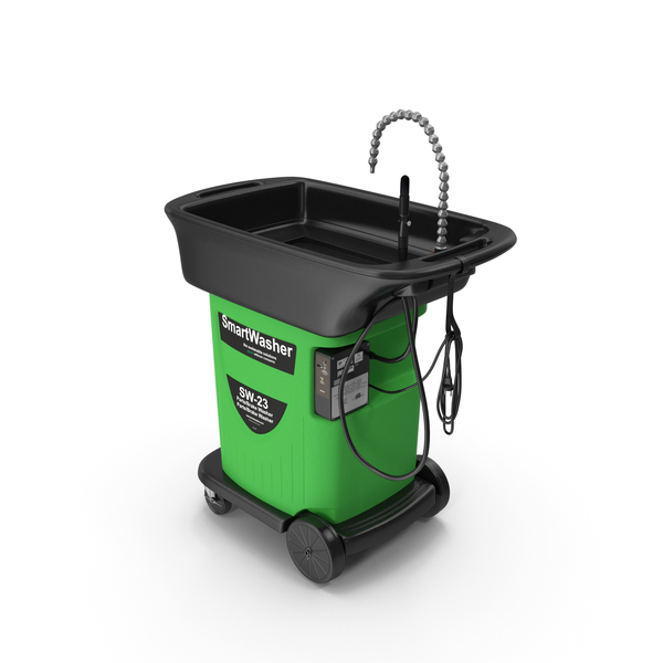 Cleaning Cart: SmartWasher Mobile Parts Washer Kit PNG & PSD Images