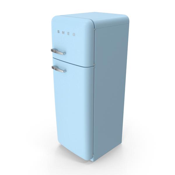 Refrigerator: SMEG Blue Fridge PNG & PSD Images
