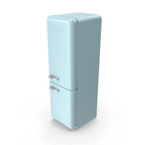 Smeg Blue Refrigerator PNG & PSD Images