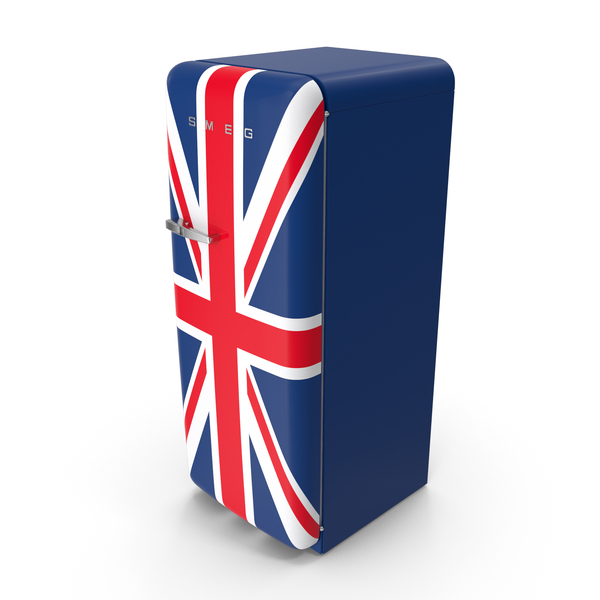 Refrigerator: SMEG Fridge Union Jack PNG & PSD Images