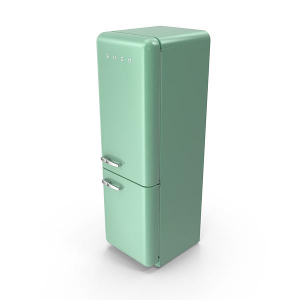 Smeg Green Refrigerator PNG & PSD Images
