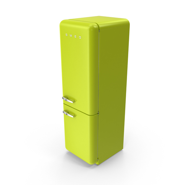 Smeg Lime Green Refrigerator PNG & PSD Images