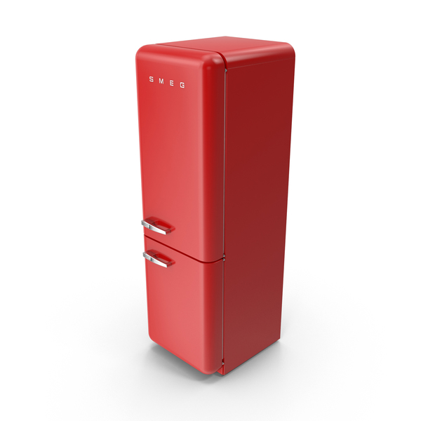 Smeg Red Refrigerator Object