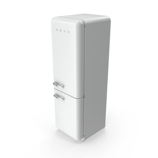 Smeg White Refrigerator PNG & PSD Images