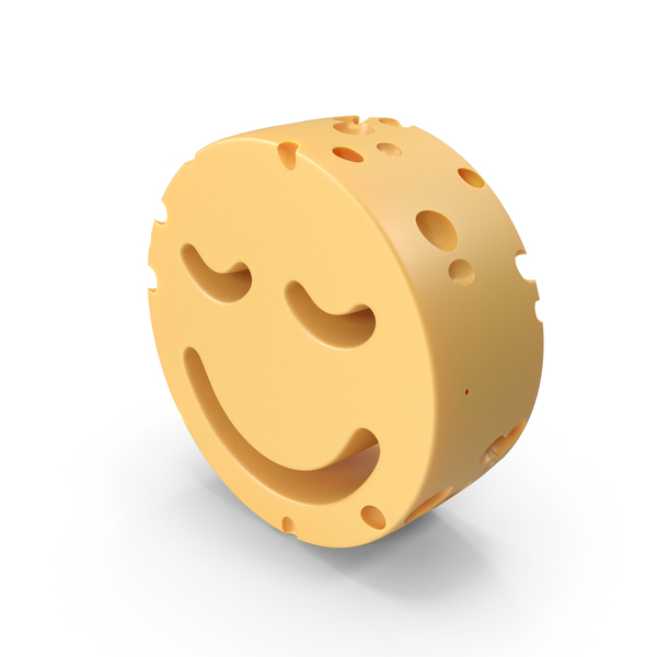 Smiley Face: Smile With Closed Eyes Cheese PNG & PSD Images