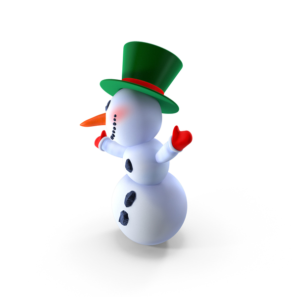 Smiling Cartoon Snowman PNG & PSD Images
