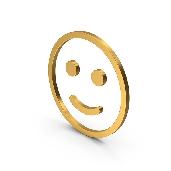 Smiley Face: Smiling Emoji Gold PNG & PSD Images