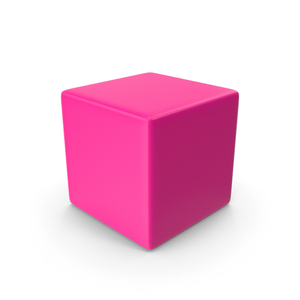 Smooth Cube Pink PNG & PSD Images
