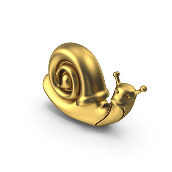 Figurine: Snail Golden PNG & PSD Images