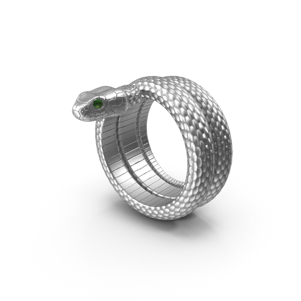 Snake Ring Silver PNG & PSD Images
