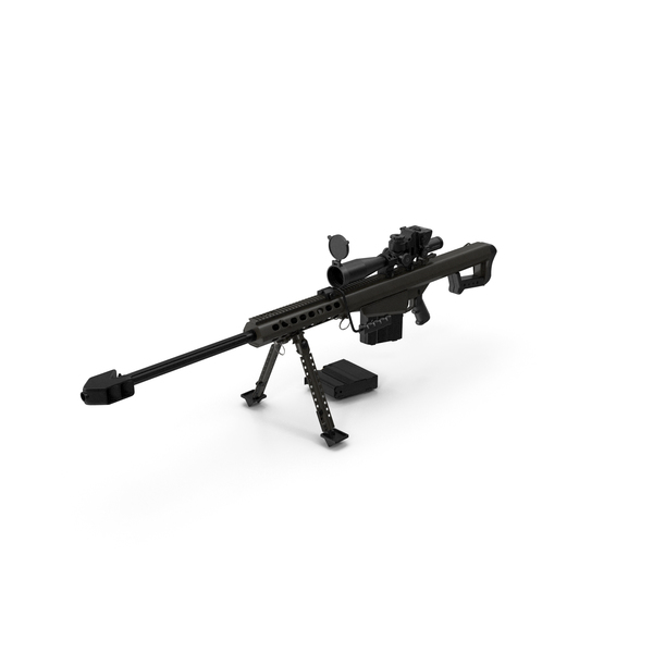 Sniper Rifle Barrett M82 PNG & PSD Images