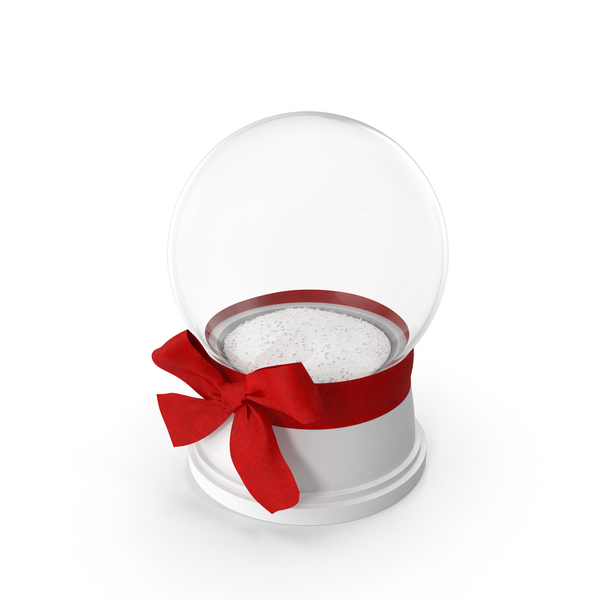 Snow Globe with Red Bow PNG & PSD Images