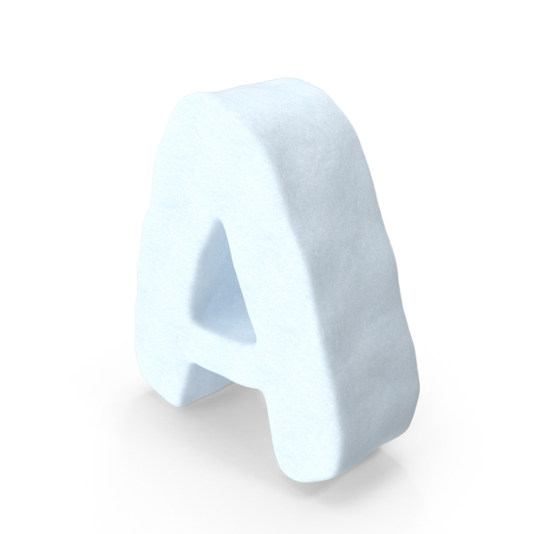 Snow Letter A PNG & PSD Images
