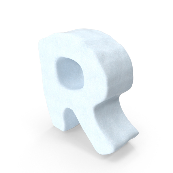 Snow Letter R PNG & PSD Images