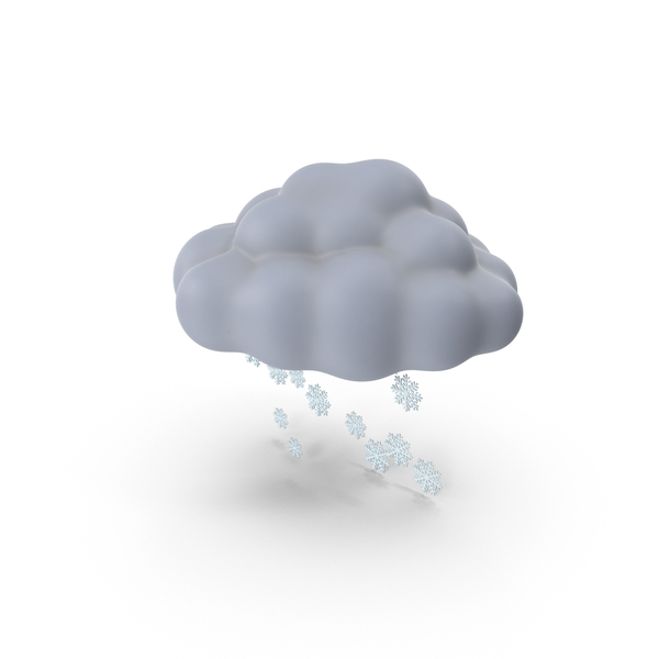 Cloud: Snow Storm Symbol PNG & PSD Images