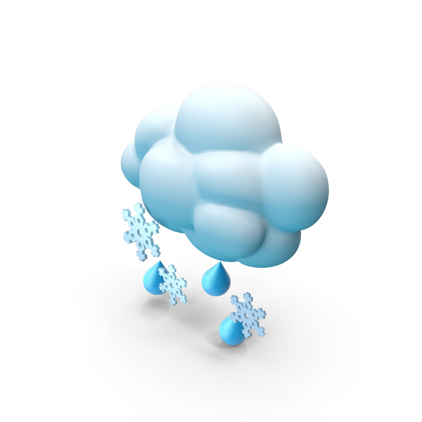 Snow with Rain PNG & PSD Images